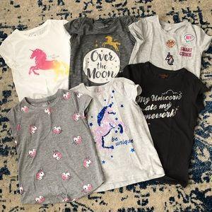 Other - Girls unicorn t shirt lot